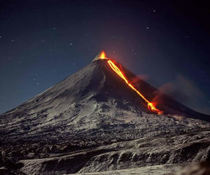 lava, volcano, and russia image