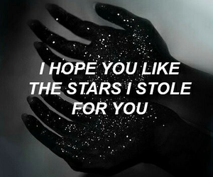 stars, quotes, and grunge image