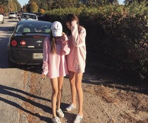 girls, pink, and korean image