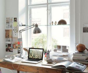 desk, room, and decor image