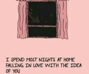 in love, pink, and thoughts image