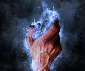 blue, choke, and fantasy image