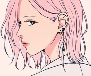 girl, manhwa, and pink image