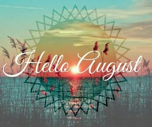 sea, sunset, and August image