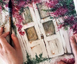 beautiful, doors, and painting image