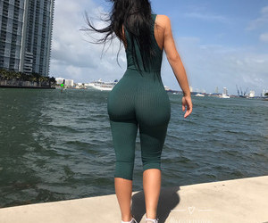 booty, slim thick, and curves image