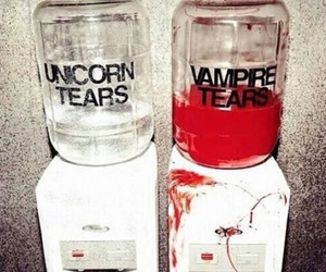 vampire, unicorn, and tears image