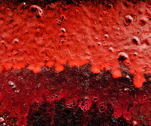 abstract photography, red, and rusted image