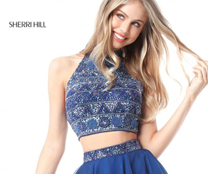 two piece beaded dress and sherri hill 51297 image
