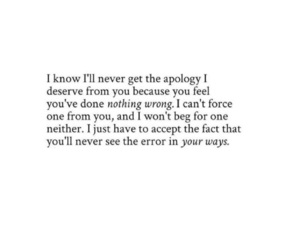 apology, breakup, and quote image