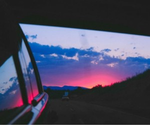 sunset, car, and photography image