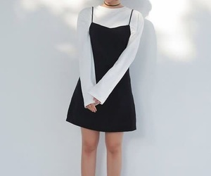 dress, kfashion, and white image