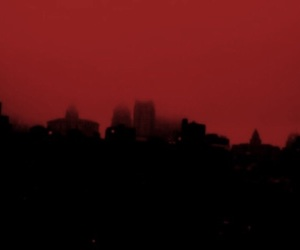 city and red image