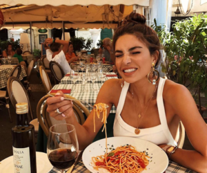 food, girl, and travel image
