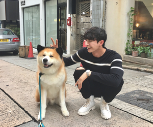 ulzzang, boy, and dog image