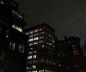 city, lights, and dark image
