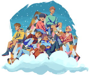 family, fanart, and bts image