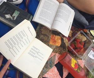 books, food, and lovely image