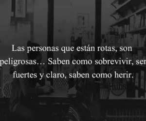 frases, peligro, and personas image