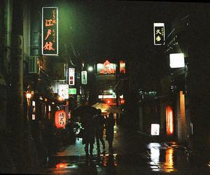 night, street, and lights image