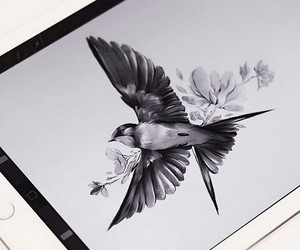 animal, art, and bird image