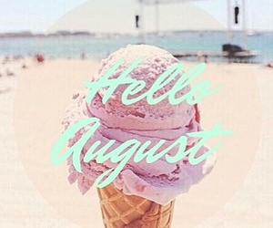 August, beach, and blue image