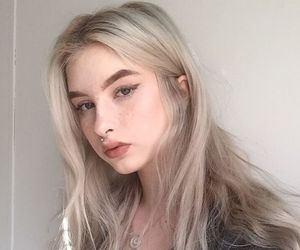 blonde, chic, and freckles image
