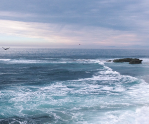 sea, background, and ocean image