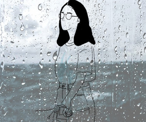 wallpaper, outline, and rain image