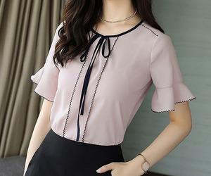 asian fashion, chiffon, and blouse image