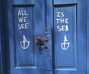 blue, sea, and door image