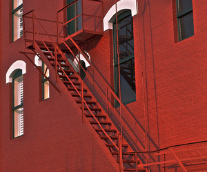 maroon, stairs, and wall image
