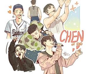 Chen, chibi, and exo image