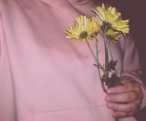 flowers, pink, and sweatshirt image