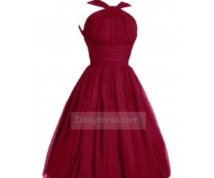 short dress, red dress, and bridesmaid dress image