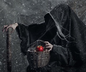 dark, snow white, and evil queen image