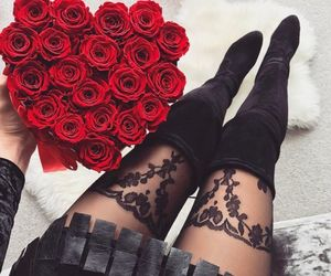 rose, red, and black image