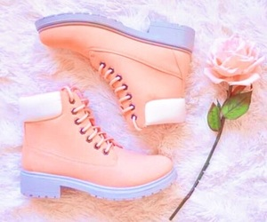 pink, shoes, and rose image