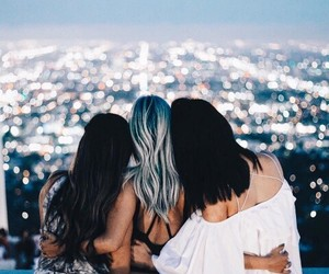 friends, fashion, and lights image