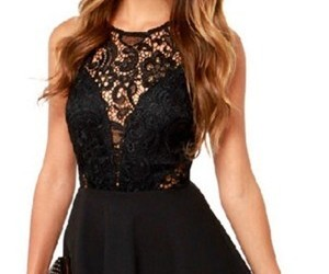 black, lace, and design image