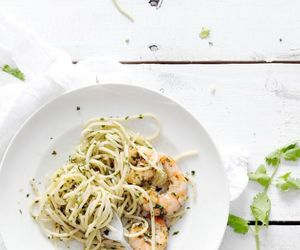 delicious, pasta, and prawn image