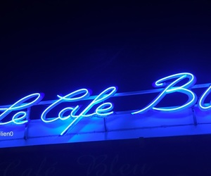 blue, french, and neonlight image