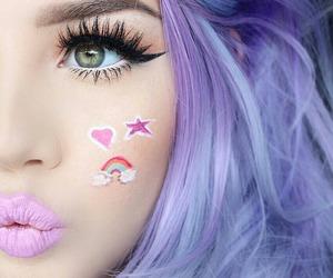 make up, beauty, and lips image