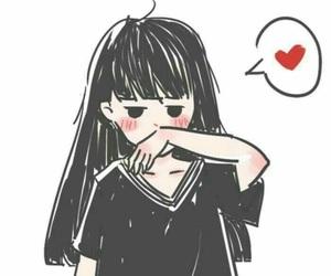 girl, anime, and couple image