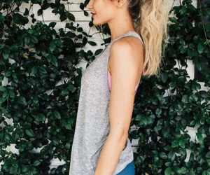 blonde, fitness, and ponytail image