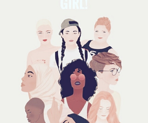 girl, woman, and girl power image