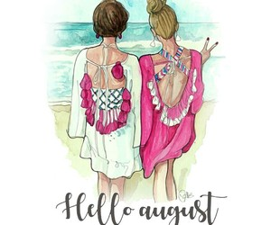 beach, preppy, and hello august image
