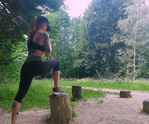 fit, forest, and girl image