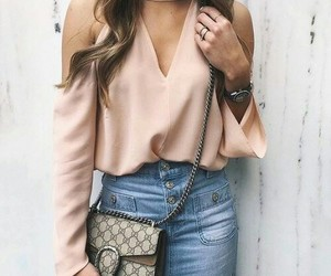 accesories, hair, and bag image