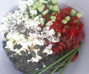 food, salad, and summer image